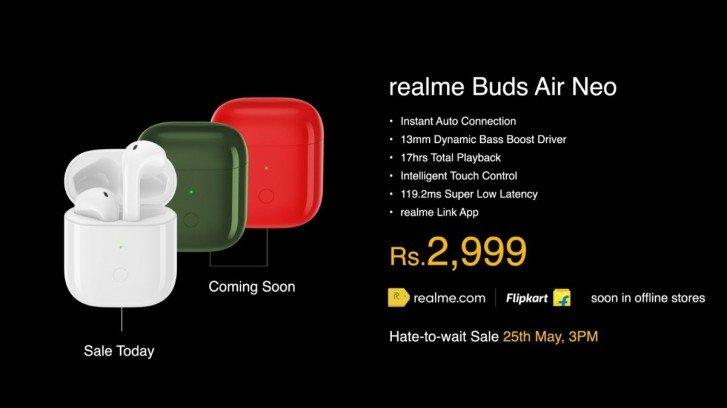 Reakme buds air neo price