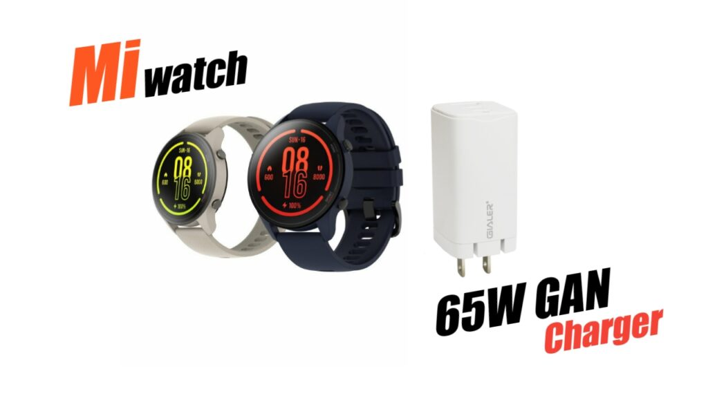 Xiaomi 65W GaN Charger and Mi Watch