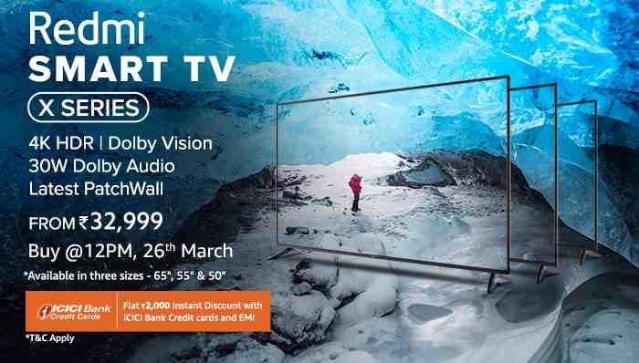 Redmi Smart TV X series announced in India