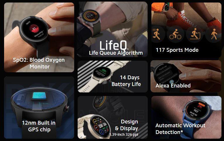 Mi Watch revolve Active specifications
