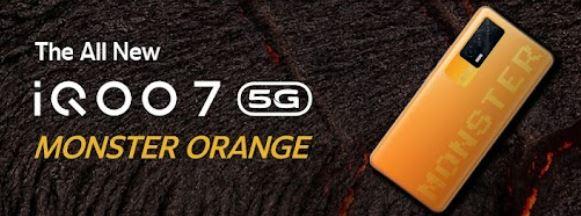 iQOO 7 Monster Orange color option