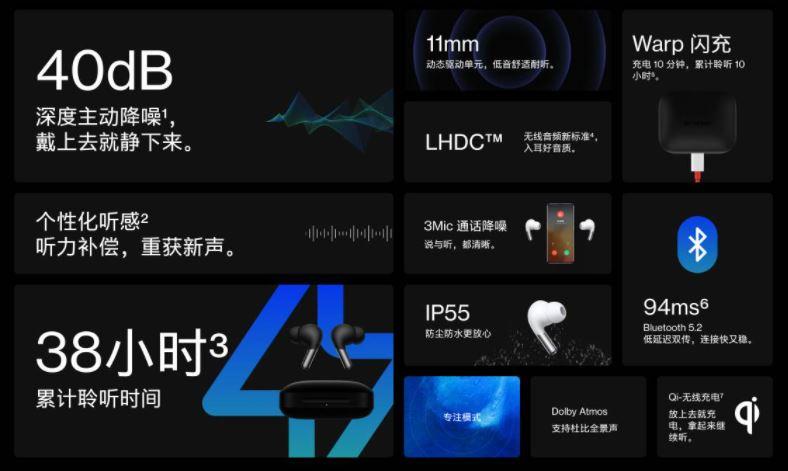OnePlus Buds Pro TWS earbuds  specs