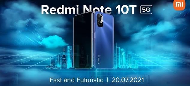 Redmi Note 10T 5G India