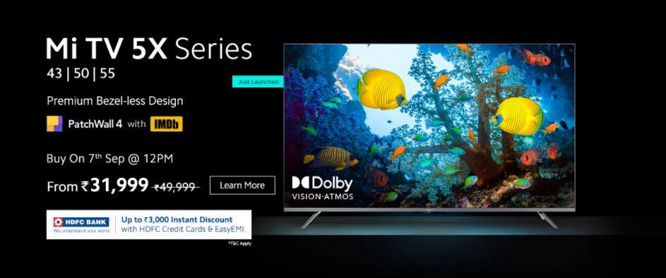 Xiaomi launches Mi TV 5X